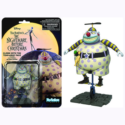 ReAction Nightmare Before Christmas Clown With Tearaway Face Figure 7728