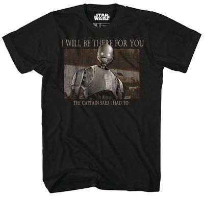 Image of Star Wars Rogue 1 There For You Previews Exclusive Black T-Shirt XXL