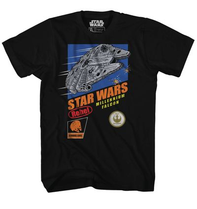 Image of Star Wars Falcon Hunt Previews Exclusive Black T-Shirt MED