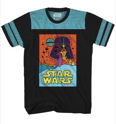 Image of Star Wars The New Trend Black Blue T-Shirt XL