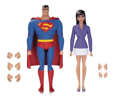 Superman Animated Series Superman and Lois Lane Action Figure 2-Pack JAN170424Y