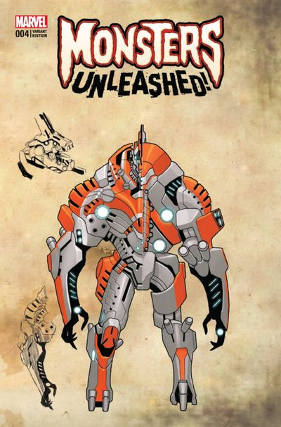 Monsters Unleashed #4 (of 5) (Larocca Monster Variant Cover Edition)