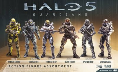 Halo 5 Guardians Series 1 Master Chief Action Figure Case JUL150689Z