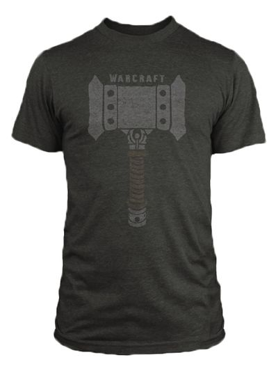 Image of Warcraft Doomhammer Charcoal Heather T-Shirt LG