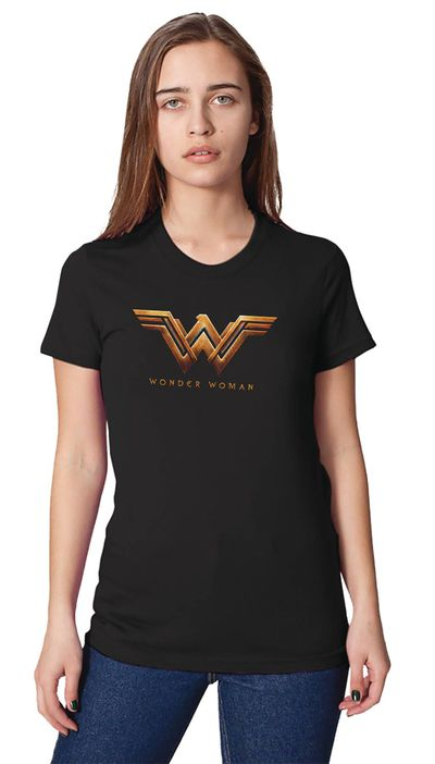 Image of Wonder Woman Movie Logo Womens T-Shirt MED