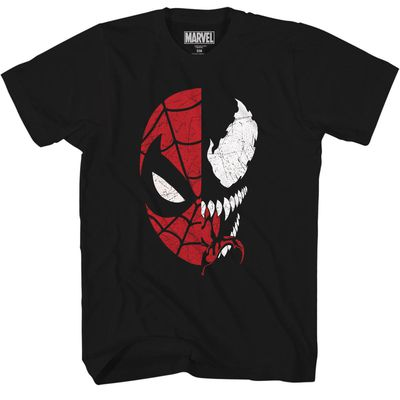 Marvel Spidey Venom Split Blk T-Shirt LG JUN172478U