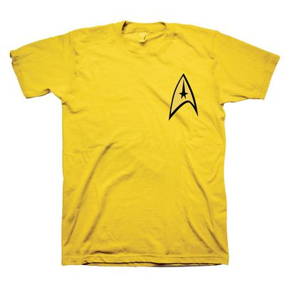 Image of Star Trek Command Yellow T-Shirt XXL