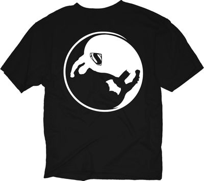 Image of Batman vs. Superman Yin Yang Silhouette Previews Exclusive Blk T-Shirt LG