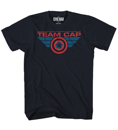 Image of Captain America 3 Caps Team Previews Exclusive Navy T-Shirt MED