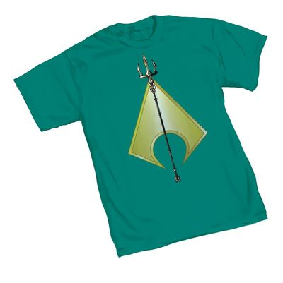 Image of Aquaman Trident T-Shirt XXL