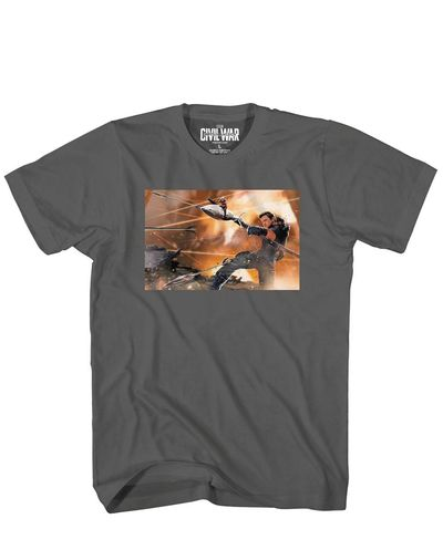 Image of Captain America 3 Hawk N Ant Blk T-Shirt XXL