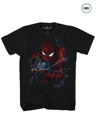 Spider-Man Homecoming Accidentally Awesome Blk T-Shirt LG MAR172490U