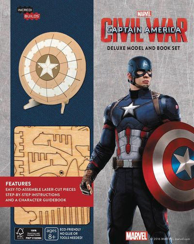 Incredibuilds Capt America Deluxe Model W Book MAY162061F
