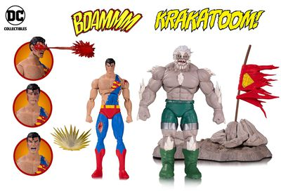 DC Icons Doomsday Superman Death Superman Deluxe Action Figure 2 Pk MAY170374Y