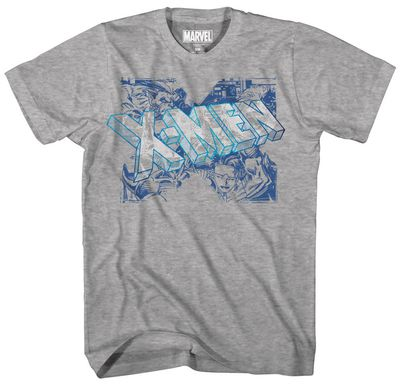 Image of X-Men Blue Team Blue Foil Heather Grey T-Shirt XL