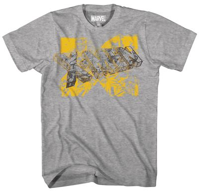Image of X-Men Gold Team Gold Foil Heather Grey T-Shirt MED