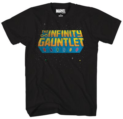 Image of Marvel Stellar Glove Black T-Shirt SM