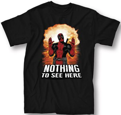 Image of Deadpool Nothing To See Here Black T-Shirt MED