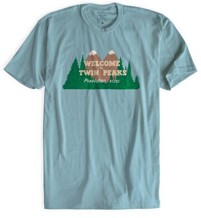 Image of Twin Peaks Welcome To Twin Peaks Light Blue T-Shirt XXL