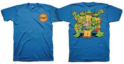Image of Teenage Mutant Ninja Turtles Front & Back Royal Blue T-Shirt LG