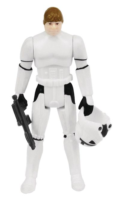 Star Wars Kenner-Inspired Power Force Stormtrooper Luke Action Figure NOV172603