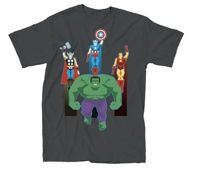 Image of Avengers Minimal Charcoal T-Shirt XL