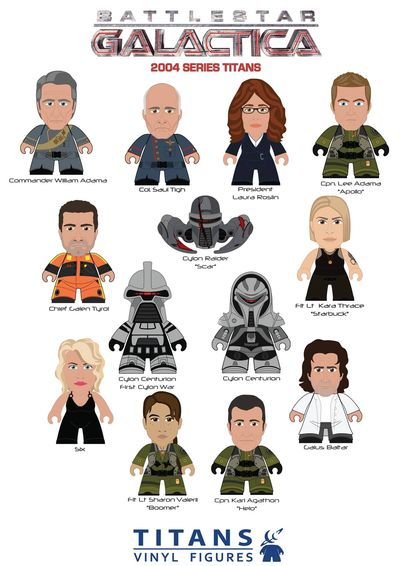 Battlestar Galactica Titans Mini Figure 20pc Bmb Ds SEP162812U
