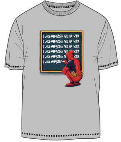 Image of Marvel Deadpool Time Out Silver T-Shirt MED