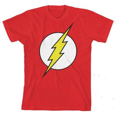 Image of DC Comics Flash Glow in the Dark Youth T-Shirt LG