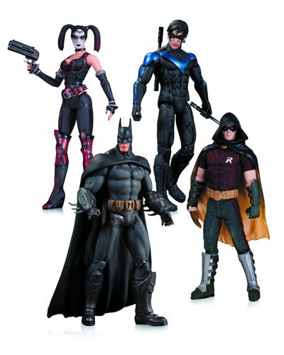 Harley Quinn Batman Nightwing Robin Action Figure 4 Pack APR140323Y