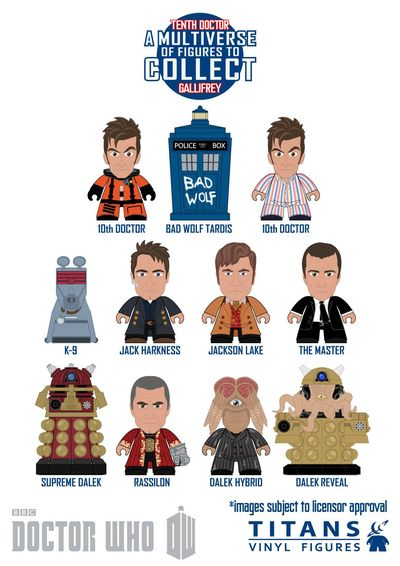 Doctor Who Titans Mini Figure 20pc Bmb Ds Series 05 APR142181U