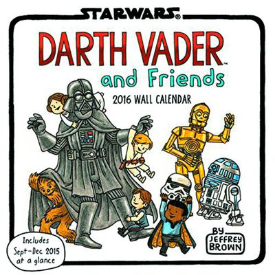 Darth Vader Friends 2016 Wall Calendar