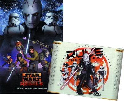 Star Wars Rebels 2016 Wall Cal Spec Ed