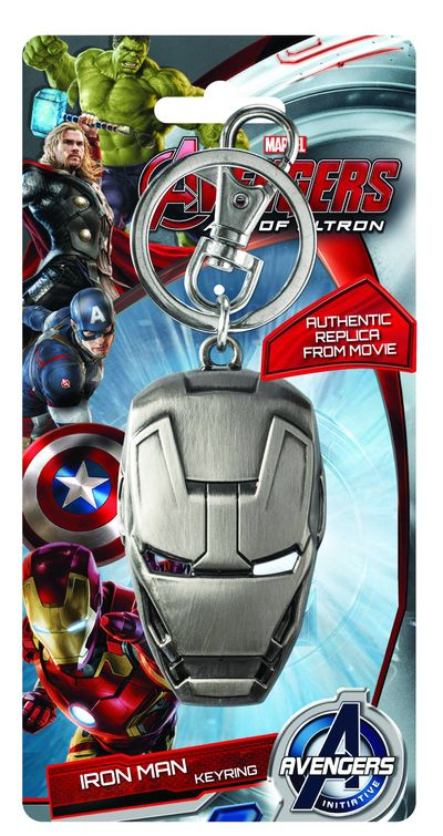 Avengers Age Of Ultron Iron Man Face Pewter Keyring APR152357F
