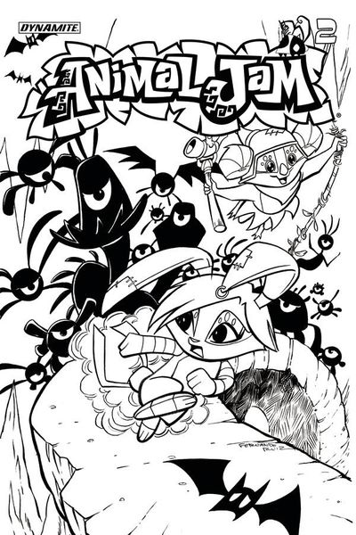Animal Jam #2 (of 3) (Cover C - Coloring Book Cover) APR171604E
