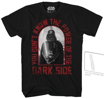 Image of Star Wars You Don't Know UV Ink Previews Exclusive Black T-Shirt XXL
