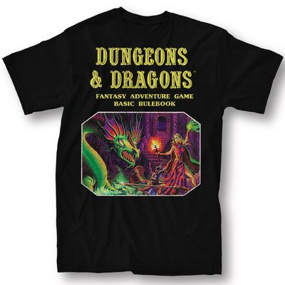 Image of Dungeons & Dragons Basic Rule Book Blk T-Shirt XL