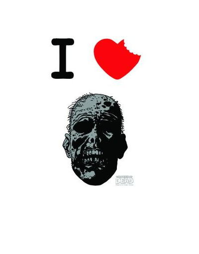 Image of Walking Dead I Heart T-Shirt XXL