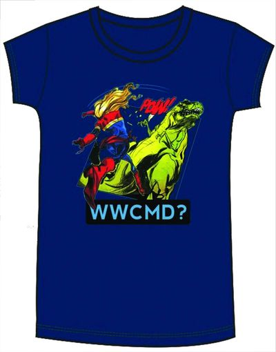 Image of Marvel Captain Marvel WWCMD Navy Womens T-Shirt XL
