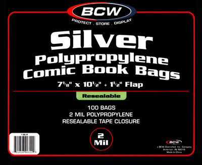 Silver Resealable Bag 100 pack SIL-R