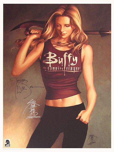 Buffy the Vampire Slayer - Limited Edition Print Signed by Joss Whedon & Jo Chen