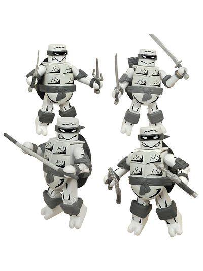 SDCC 2015 Exclusive Teenage Mutant Ninja Turtles Mirage Black & White Minimates Set FEB158306U
