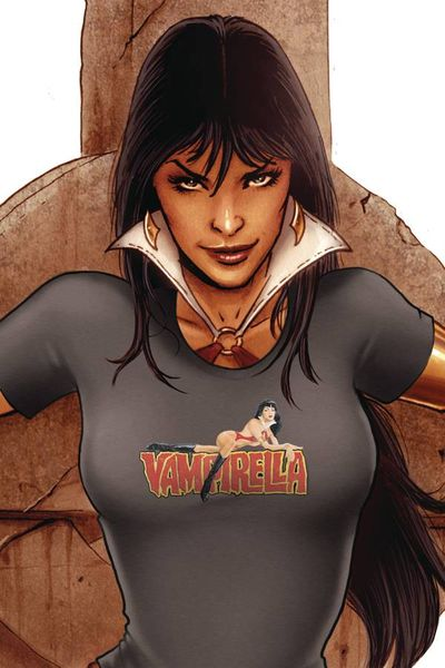 Image of Vampirella Retro Gray Womens T-Shirt LG