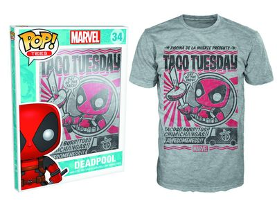 Pop Tees Marvel Deadpool Chimichanga T-Shirt XL FEB162595U