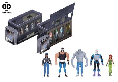 Batman Animated Gothem City Police Department Rogues Gallery Action Figure 5 Pack FEB170344Y