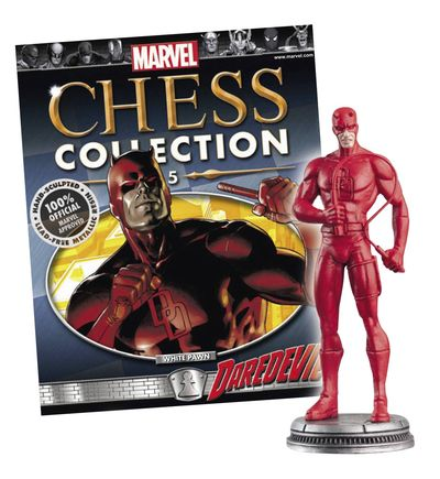 Marvel Chess Figure Coll Mag #5 Daredevil White Pawn JAN141531H