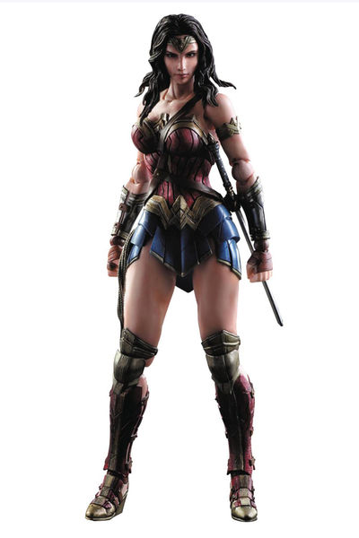 Batman vs. Superman Dawn of Justice Play Arts Kai Wonder Woman Action Figure JAN168666I