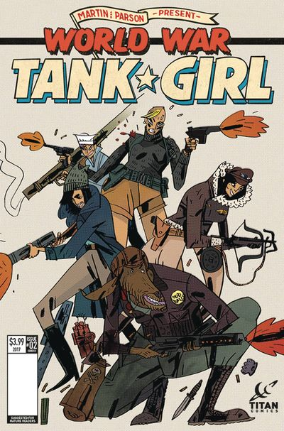 Tank Girl World War Tank Girl #2 (of 4) (Cover D - Cadwell)