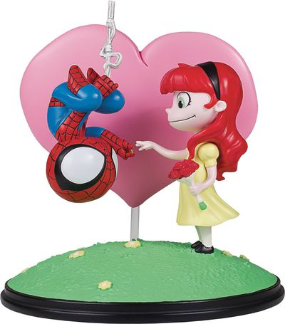 Marvel Animated Style Spider-Man & Mary Jane Statue JAN182455