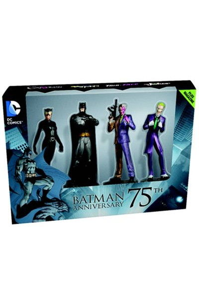 DC Masterpiece Figure Coll Mag #1 Batman 75th Anniv Set JUL141709H